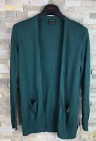 Massimo Dutti Mens Size S Silk Cotton Cashmere Green Waterfall Cardigan