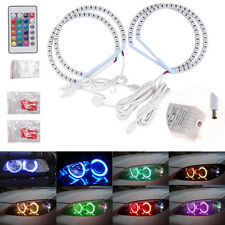 131MM RGB 5050 Flash LED SMD Angel Eyes Kit Xenon Headlight For Bmw E36 E38 E46