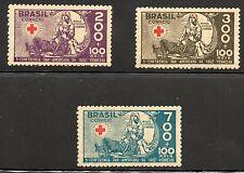 Brazil Scott B5-B7, MNH, Red Cross Nurse and Soldier, Set of 3
