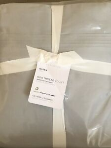 POTTERY BARN 500 Thread Count Sateen QUEEN Sheets 4 Piece Set NEW - GRAY