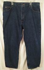 Wrangler Men's Denim Jeans Size 42 x 30 Relaxed Fit Dark Wash 100% Cotton