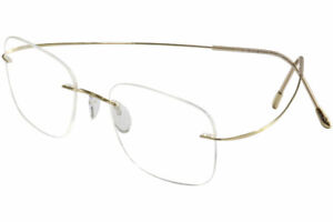 Silhouette Eyeglasses TMA Must Collection Chassis 5515 7530 Gold Optical Frame