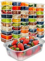 [50pk,25oz] Food Storage Containers Meal Prep Plastic Containers with Lids Deli