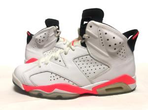 AIR JORDAN 6 RETRO 'INFRARED' 2014, White Shoes, Men's Basketball Shoes Size: 11
