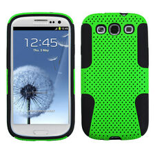 SAMSUNG GALAXY S3 i9300 DUAL LAYER HARD COVER+SILICONE HYBRID CASE GREEN
