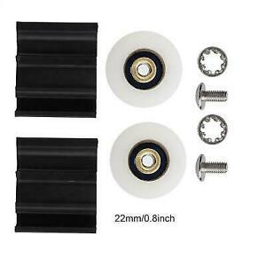 Greenhouse Door Wheels Kit Replacement Dia.22/30mm For Elite / Halls Home Garden