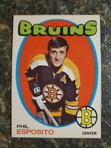 """1971-72 PHIL ESPOSITO O-PEE-CHEE HOCKEY CARD #20 """"BEAUTY"""""""