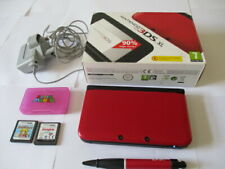Nintendo 3DS XL in Red Handheld Console Boxed in Excellent Condition