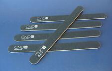 5 x CND KANGA NAIL FILES 240/240 GRIT black acrylic uv gel