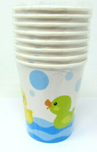 8 Rubber Duck 9 oz Cups Colorful Ducky Kids Party Baby Shower Duckie