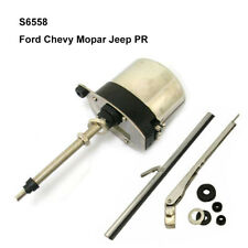 12V Stainless Windshield Wiper Motor Street Rat Rod for Chevy Ford Mopar Jeep PR