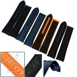 22mm Canvas/Rubber Diver Watch Strap Band for OMEGA Seamaster Planet Ocean