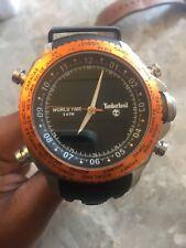 Timberland Men's Orange & Black Watch - Gently Used