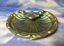 Rare Large Antique Zsolnay Iridescent Eosin Seashell Porcelain Soap Dish RGUC