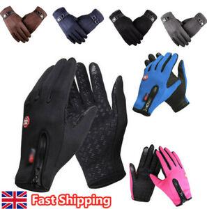 Winter Warm Thermal Touch Screen Gloves Waterproof Mens Glove Windproof Bike Ski