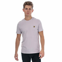 Mens Lyle And Scott Crew Neck T-Shirt In Lilac- Crew Neck