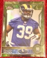 Malcolm Brown  2015 Topps Chrome <Camo> Refractors RC #184 - Serial #d /499 🏈🏈