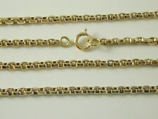 "LONG GUARD MUFF CHAIN NECKLACE ANTIQUE 9CT GOLD 42"" LONG 18.7 GRAMS"