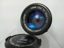 *Excellent* Canon New FD nFD 50mm f/1.4 Lens (FD Mount) (w/ 1980 Olympics Cap)