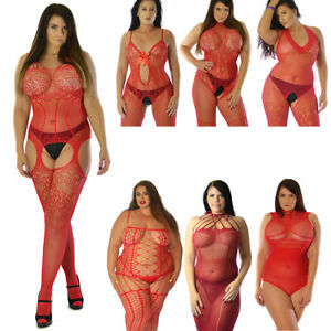 UK 6-28 Red Body Stocking Bodysuit Sexy Underwear Plus Many Designs Plus One
