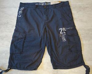 Hose kurze Hose Shorts Skater Bermuda Camp David  Blau / 2XL  Neu & Etikett