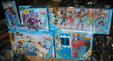 DC SUPER HERO GIRLS GIANT LOT- HIGH SCHOOL, FIGURES, MISSION VEHICLE, & MORE,