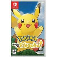 NEW Nintendo Switch Let's Go Pikachu Pokemon Video Game Sealed