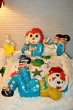 Vintage Bobbs-Merrill Raggedy Ann & Raggedy Andy Wall Hangings Made In 1977 Mint