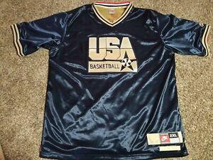 Larry Bird USA Dream Team 1992 Olympics Basketball Shooting Shirt Jersey Sz 2XL