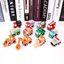 Baby Set of 12 Wooden Mini Multicolor Engineering Truck Educational Toy