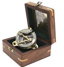 Brass Sundial Compass – Antique Sundial Compass with Box