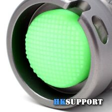 Φ16 x 8mm - LED Flashlight Rubber Tailcap Button Boot x 2 ( Glow In The Dark)