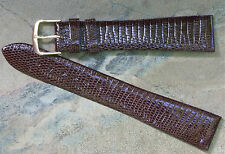 Long brown 20mm Genuine Lizard vintage watch strap by Hadley-Roma Nos watchband