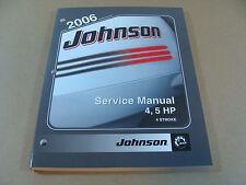 NEW 2006 BRP OMC JOHNSON SD 4 - 5 HP 4 STROKE OUTBOARD SERVICE MANUAL 5006588