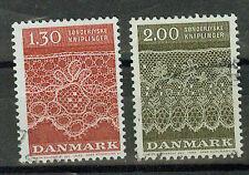 Dänemark Briefmarken 1980 Klöppelspitzen Mi 716 und 717