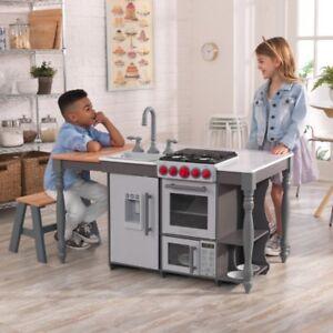 KidKraft Chef's Cook N Create Island Wooden Play Kitchen Kids Childs Girls Toy