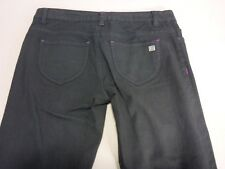 096 WOMENS NWOT DC SHOES SUPER SKINNY BLACK WASH STRETCH JEANS SZE 26 $110 RRP.
