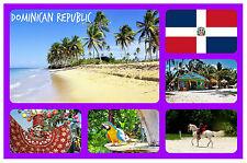 DOMINICAN REPUBLIC - SOUVENIR NOVELTY FRIDGE MAGNET - BRAND NEW - GIFT / XMAS
