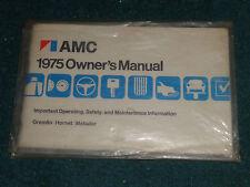 1975 AMC OWNER'S MANUAL  / ORIGINAL GREMLIN HORNET MATADOR GUIDEBOOK