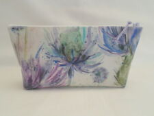 HANDMADE OILCLOTH MAKE UP BAG CASE - VOYAGE EILEEN DONAN THISTLE FABRIC