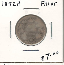 Canada 1872H Silver 25 Cents Filler