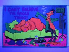 Vintage Blacklight Poster THE WHOLE THING X-Rated Funny Cartoon Mini 17x11 RARE