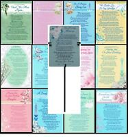 GRAVE CARD ~ WITH REUSABLE METAL HOLDER ~ DESIGNS FOR EVERYONE ~ FABULOUS VERSES