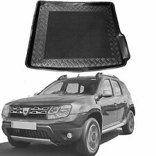 Dacia Duster 4x4 LDPE boot tray rubber load liner mat or bumper protector 3pc