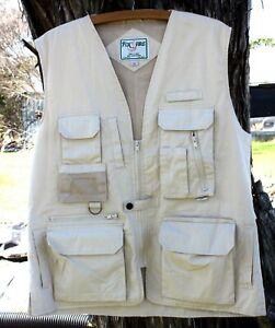 Fox Fire Vest Utility Vented MED Tan Fishing Hunting Photography Safari Hiking