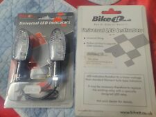 Yamaha/Honda/Suzuki/Kawasaki led orb black indicators with clear lens by bike it