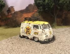 1960 VW Stubby Bus Rusty Weathered Barn Find Custom 1/64 Diecast M2 Short Van