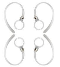4 Pack PL Earhooks Plastic Wireless Bluetooth Headset Clip Loop White Ear Hook