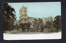 View of Westmister Abbey, London. Stamp/Postmark - 1905.
