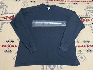Vtg 1996 Billabong Shirt XL USA Surf Skate Grunge Blue Striped C7